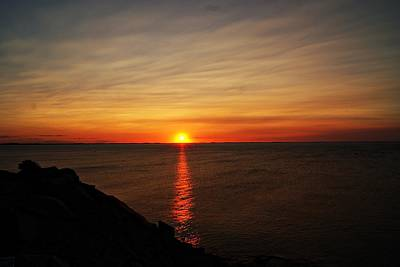 Photograph - Halibut Point Sunset L by Joe Faherty