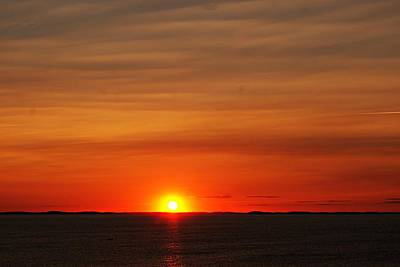 Photograph - Halibut Point Sunset M by Joe Faherty