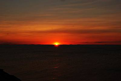 Photograph - Halibut Point Sunset N by Joe Faherty