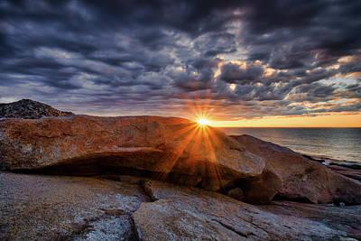 Photograph - Halibut Pt Cloud Break by Michael Hubley