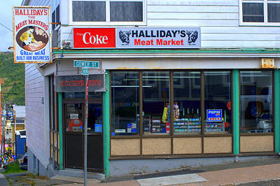 Photograph - Halliday's Meats by Douglas Pike