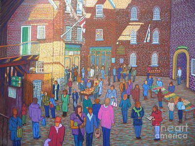 Halifax Farm Market Art Print by Rae  Smith
