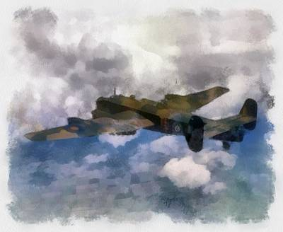 Airforce Painting - Halifax II 35 Squadron Wwii by Esoterica Art Agency