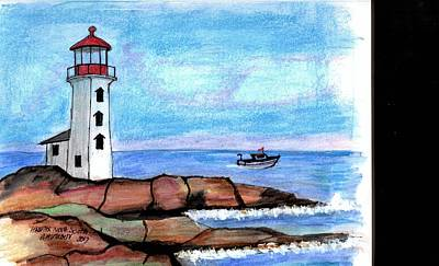 Drawing - Halifax Light by Paul Meinerth