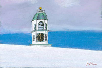 Halifax Old Town Clock Art Print by Rae  Smith PSC