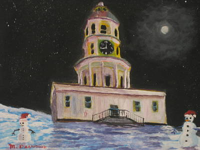 Halifax Town Clock Painting - Halifax Town Clock by Marshall Desveaux
