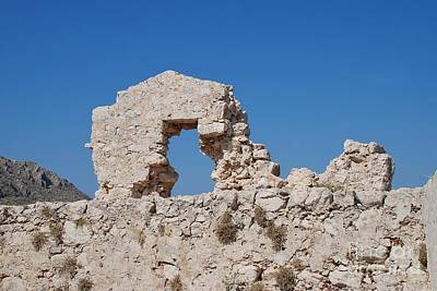 Photograph - Halki Castle Ruins by David Fowler