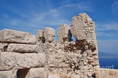Photograph - Halki Island Castle Ruins by David Fowler