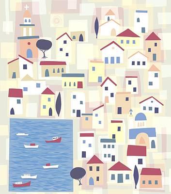 Halki Print by Nic Squirrell