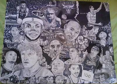 Magic Johnson Drawing - Hall Of Fame by Demetrius Washington