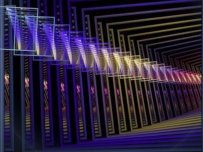 Fractal Geometry Digital Art - Hall Of Lights by Amorina Ashton