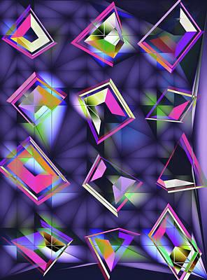 Green Surreal Geometry Digital Art - Hall Of Mirrors by Susan Maxwell Schmidt