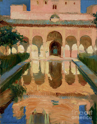 Munch Painting - Hall Of The Ambassadors, Alhambra, Granada By Joaquin Sorolla Y Bastida by Esoterica Art Agency