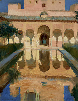 Hall Of The Ambassadors, Alhambra, Granada Art Print by Joaquin Sorolla