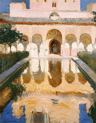 Hall Of The Embassadors Alhambra Granada Art Print by Joaquin Sorolla y Bastida