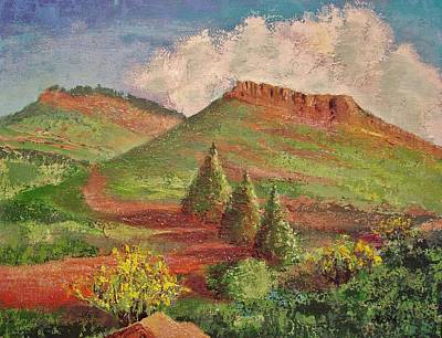 Painting - Hall Ranch Hogback by Margaret Bobb