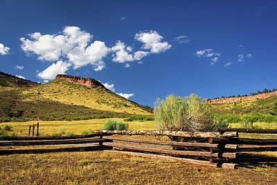 Photograph - Hall Ranch Park In Colorado by Carolyn Derstine