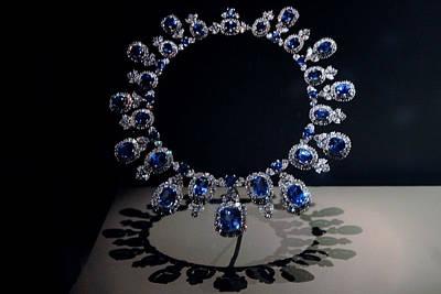 Wish List Photograph - Hall Sapphire And Diamond Necklace by LeeAnn McLaneGoetz McLaneGoetzStudioLLCcom