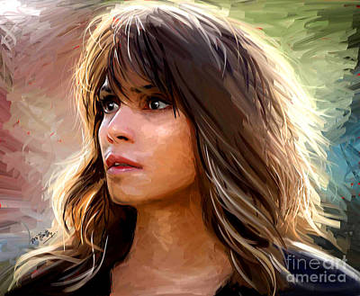 Halle Berry Digital Art - Halle Berry by Dori Hartley