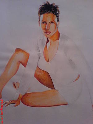 Intezaar Painting - Halle Berry by Sandeep Kumar Sahota
