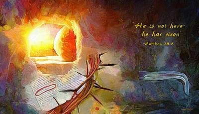 Painting - Hallelujah - Christ Arose by Wayne Pascall
