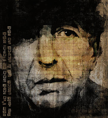 Songwriter Digital Art - Hallelujah Leonard Cohen by Paul Lovering