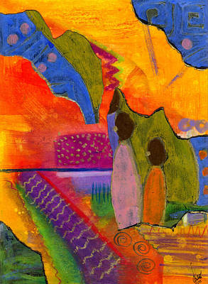 Hallelujah Praise Art Print by Angela L Walker