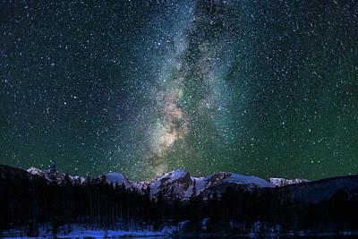 Photograph - Hallett Peak - Milky Way 2 by Gary Lengyel