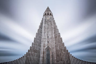 Photograph - Hallgrimskirkja Cathedral by Brad Grove