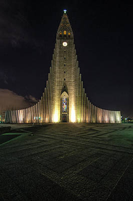 Photograph - Hallgrimskirkja Reykjavik Iceland 1 by Deborah Smolinske