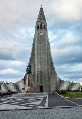Photograph - Hallgrimskirkja - The Largest Church In Iceland by Venetia Featherstone-Witty
