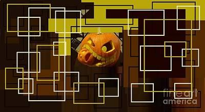 Jacko Photograph - Halloween Digital Collage by Catherine Lott