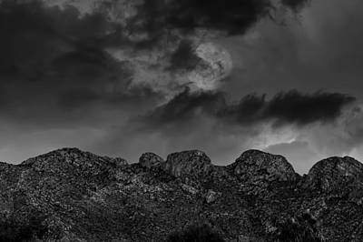 Photograph - Hallow Moon Bw by Mark Myhaver