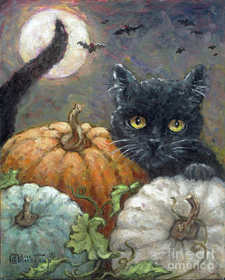 Painting - Halloweeen I by Janet Kruskamp