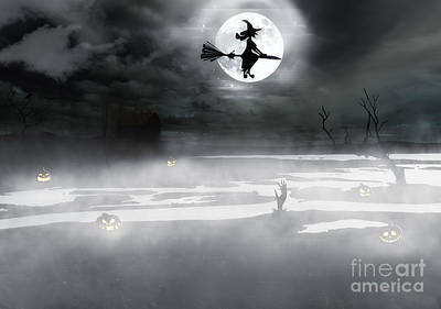 Halloween Background Art Print by Dani Prints and Images