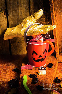 Halloween Candy Still Life Art Print