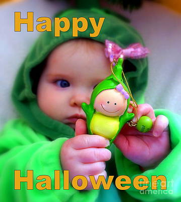Photograph - Halloween Card by Rachel Munoz Striggow