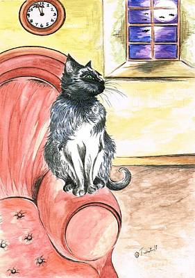 Painting - Halloween Cat by Teresa White
