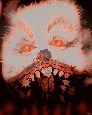 Halloween Devil Art Print by Linda Galok