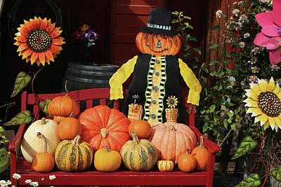 Farm Stand Photograph - Halloween Display by Art Block Collections