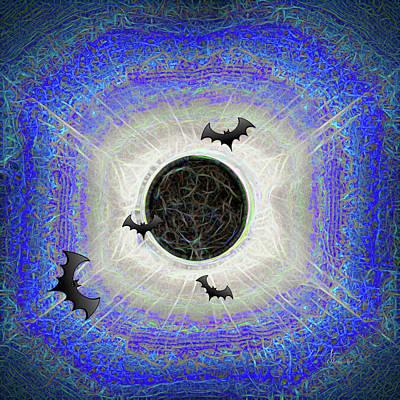 Digital Art - Halloween Eclipse Is Never Over by OLena Art Brand