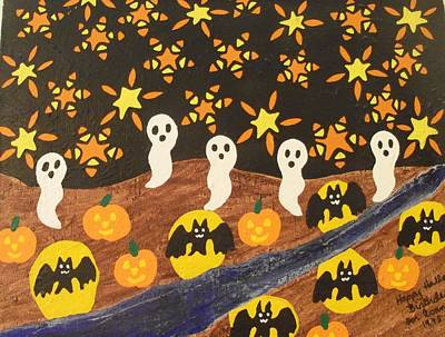 Painting - Halloween by Erika Chamberlin