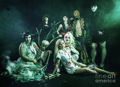 Spiderweb Photograph - Halloween Event by Amanda Elwell
