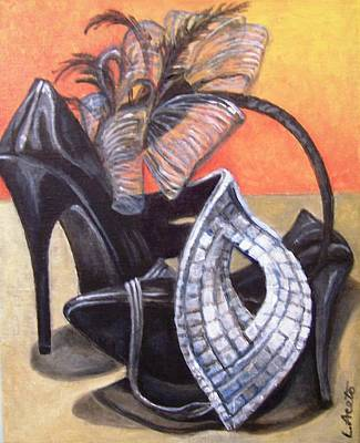 Painting - Halloween Finery by Laura Aceto