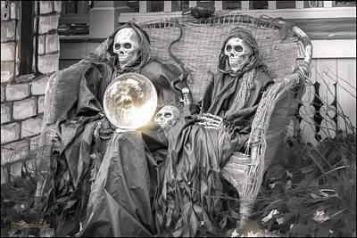 Graveyard Photograph - Halloween Fortune Teller by LeeAnn McLaneGoetz McLaneGoetzStudioLLCcom