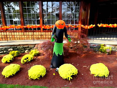 Photograph - Halloween Garden by Ed Weidman