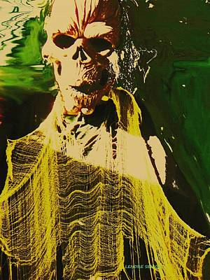 Frightening Mixed Media - Halloween - Ghoul by Lenore Senior