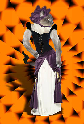 Gx9 Mixed Media - Halloween Hussy by Gravityx9 Designs
