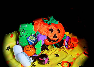 Halloween Icons Art Print by Linda Phelps