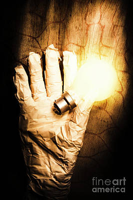 Light Bulb Wall Art - Photograph - Halloween Ideas Concept by Jorgo Photography - Wall Art Gallery